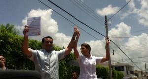 Renancistas festejan a Renán Barrera