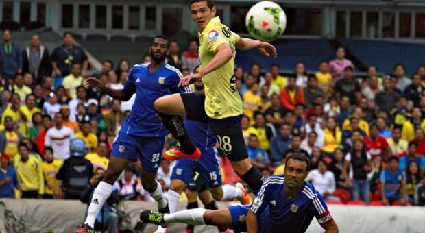 El América golea en la Concachampions