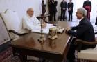 El Papa recibe al Presidente de Armenia