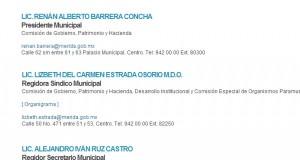 La regidora síndico municipal ¿cómplice de Renán Barrera?