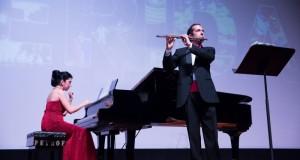 Emotivo recital de flauta y piano en el FICMaya 2014