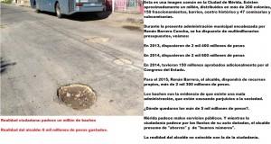 Foto – Editorial: 5 mil millones de pesos y un millón de baches en Mérida