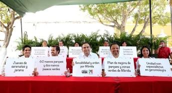 Nerio Torres presenta sus primeras 20 propuestas para Mérida