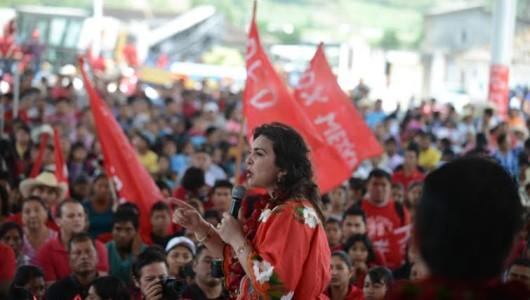 Emotiva gira de Ivonne Ortega por Chiapas luego de su operación