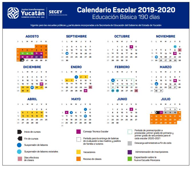 Calendario Escolar 2019.Listo El Calendario Escolar 2019 2020 En Yucatan Mpv Opinion