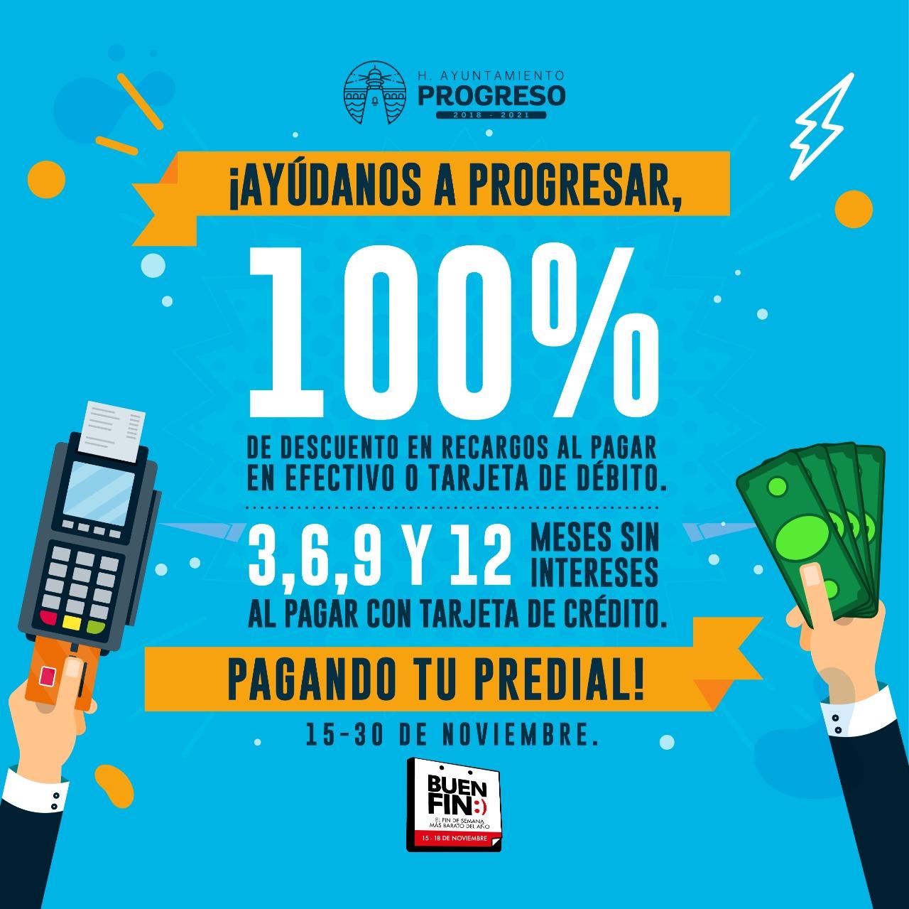 """Ayuntamiento de Progreso participa con el """"Buen Fin"""", a través de descuentos en el pago del predial - www.mipuntodevista.com.mx"""